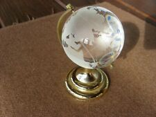 Mini World Globe Crystal Glass Clear Paperweight Desk Office Home Decor m