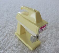 Vtg 80s Barbie Wind Up Handmixer w/ Stand Dollhouse Accessory Works Sometimes