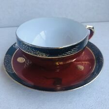 EXTRA RAre vintage bone china tea cup and saucer set pair Geisha Image Dragon