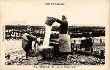 CPA   Cote d'Émeraude - Cancale - Le Lavage des Huitres  (357129)