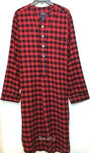 Polo Ralph Lauren Flannel Buffalo Plaid Pajamas Shirt Gown Nightshirts