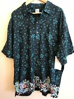 Bali Casuals Men's XL Shirt Green Hawaiian Dragon Casual Resortwear NWT