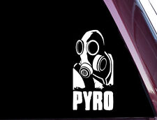PYRO - Team Fortress 2 - TF2 - DIE CUT Decal / Sticker NOT PRINTED (A-60)