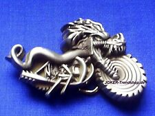 Skull Dragon Rider on Motorcycle 3D Gürtelschnalle Drachen Reiter Schädel Buckle