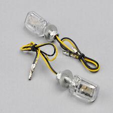 2x 6 LED 12V Amber Motorcycle Mini Turn Signal Blinker Indicator Light Universal