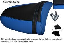 LIGHT BLUE & BLACK 03-04 CUST0M FITS KAWASAKI NINJA ZX6R PILLION SEAT COVER