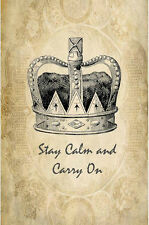 Vintage inspired crowns stay calm carry on grunge cards tags scrapbooking 8