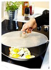 """IKEA frying pan splatter screen 13"""" folding handle stainless steel STABIL new"""