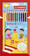 STABILO 12 Buntstifte Trio dick Dreikant Bleistift