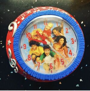 New Disney High School Musical Blue & Red Analog Wall Clock Movie Decor