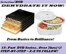 Dehydrate It Now!Food Preserving-STEP-BY-STEP~DVD[3hrs]Instructional-Tips/Tricks