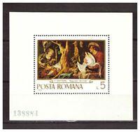 39040) Romania 1970 MNH Paintings S/S