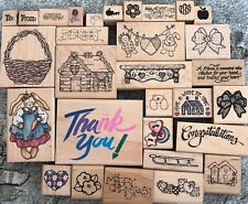 30 Various Rubber Stamps D.O.T.S, Rubber Stampede, Azadi Earles - Flowers,Hearts