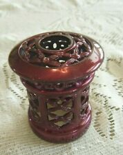 Catalytic Fragrance Burner Decorative Crown-Plum Color-Fits Lampe Berger & Other