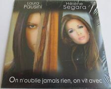 """HÉLÈNE SÉGARA & LAURA PAUSINI - CD SINGLE """"ON N'OUBLIE JAMAIS RIEN, ON VIT AVEC"""""""