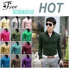 Men's Luxury Casual Formal Shirt Long Sleeve Slim Fit Business Dress Shirts TOP