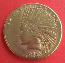 USA 10 Dollar Gold Indian Head Eagle 1910 - 1/2 Unze Gold - tolles Stück!