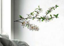 Wandsticker Wandtattoo Aufkleber Blütenzweig Blüten Kirschblüten weiß