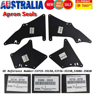 Splash Guards For Toyota Land Cruiser Prado 120 150 03-20 Fender Liner Mud Flaps