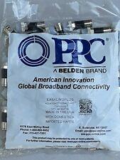 1000 PPC EX6XLWSPLUS RG6 COAX COMPRESSION CONNECTORS AQUA-TIGHT CLEAR BOOT