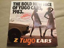 Yugo Cars Brochure - 1983