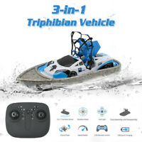 3 In 1 GW123 Mini Drone 2.4G Waterproof Quadcopter RC Car Remote Control Boat