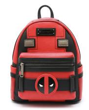 LOUNGEFLY Deadpool Marvel Red Mini Backpack Bag Costume Japan