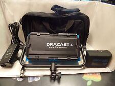 Dracast LED500 Pro Bi-Color LED W/ V-Mount Battery Plate+Battery+Barn Doors+Bag