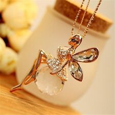 Angel Wings Necklace Jewelry 2017 Fashion Gold Plated Crystal