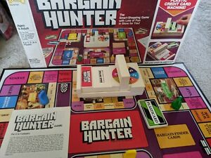 Milton Bradley Bargain Hunter Board Game Replacement Parts Cards Machine & More