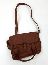 Shoulder Bag Women's Peace Olsenboye Brown Faux Leather fold over nwot
