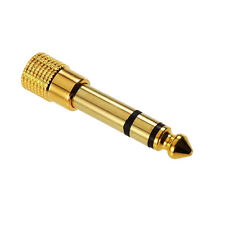6,3mm stereoklinken Connecteur à 3,5mm Stéréo Jack doré raccord