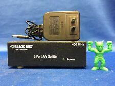 Black Box AC650A-2-EU 2-Port A/V Splitter with Power *New*