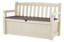 Keter Eden Bench Outdoor Storage Box Patio & Garden Furniture 140 x 60 x 84 cm