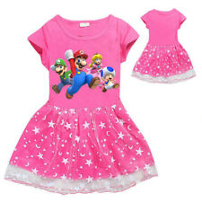 Cotton 2020 Super Mario Summer Home Tops Dress Clothing Girl Birthday Party Gift