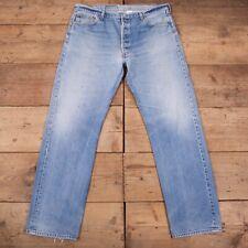 "Vintage Levis 501 Faded Stonewash Blue Straight Denim Jeans 40"" x 34"" R18091"