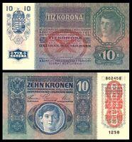 1915 Austria Gem Uncirculated / UNC ***  10 Kronen  OverprintOESTERREICH Bankno