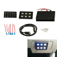 Waterproof 12-24V Car Marine Touch Screen Switch Panel 6 ON-OFF Switch LED H00A