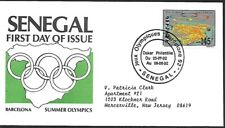 SENEGAL 1992 FIRST DAY COVER, SUMMER OLYMPICS BARCELONA