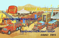 Corgi Toys Chipperfields Circus 1960's Poster Shop Display Sign Advert Leaflet