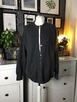 Cardigan Pure Lambswool L 12 14 16 The Collar Company  Charcoal Grey Artisan