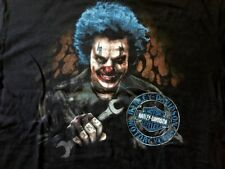 Harley Davidson Evil Clown Mechanic Black Shirt Nwt Men's Large