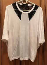 Robert Rodriguez Women's Size M Ivory Black Lace Blouse Shirt Top