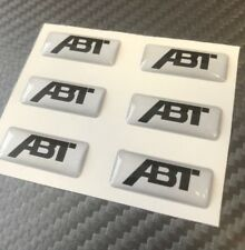 ABT 3D Sticker Badge, Small ABT decals 6 pc. 3D doming