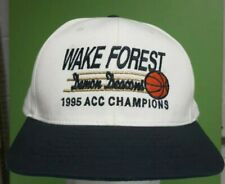 Vtg 90s Wake Forest Demon Deacons The Game Snapback Hat script tim Duncan champs