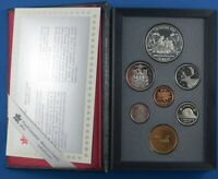Seven Coin  Proof Set Of Canadian Coins - 1989  -  Sir Alexander Mackenzie