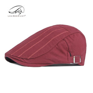 Fashion Embroider Cool Cotton Plain Cap New Flat Hats Womens Irish Beret Unisex