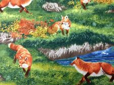 Robert Kaufman Bringing Nature Home Fox Quilting Fabric by the Yard - Q505