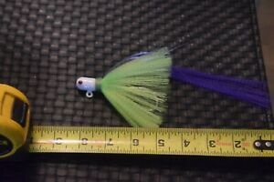 3 Flare Hawk JIgs 1 and 5/8 Ounce.7/0 Mustad hook White Head