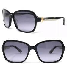 Salvatore Ferragamo Black Gold Rectangular Sf606s 001 Sunglasses $425 New